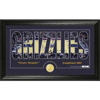 "Memphis Grizzlies ""Silhouette"" Bronze Coin Photo Mint"