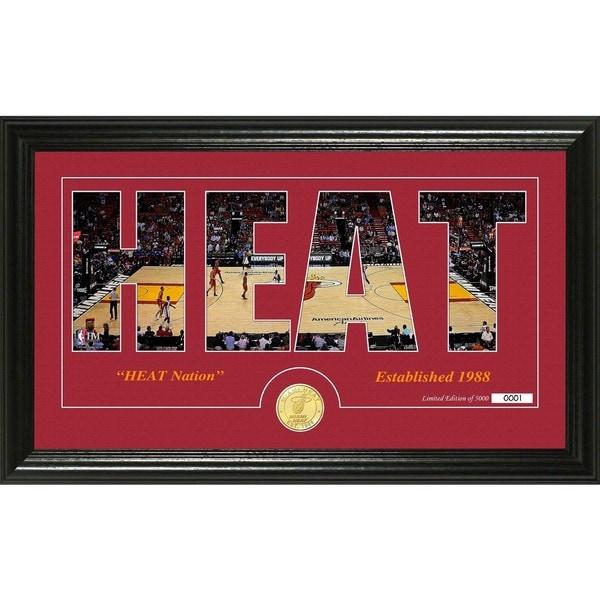 """Miami Heat """"Silhouette"""" Bronze Coin Photo Mint"""