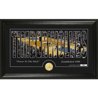 "Minnesota Timberwolves ""Silhouette"" Bronze Coin Photo Mint"