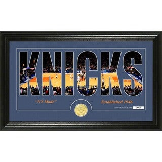 "New York Knicks ""Silhouette"" Bronze Coin Photo Mint"