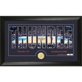 "Oklahoma City Thunder ""Silhouette"" Bronze Coin Photo Mint"
