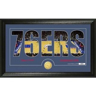 "Philadelphia 76ers ""Silhouette"" Bronze Coin Photo Mint"