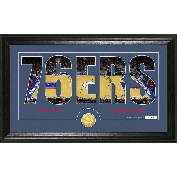 "Philadelphia 76ers ""Silhouette"" Bronze Coin Photo Mint"