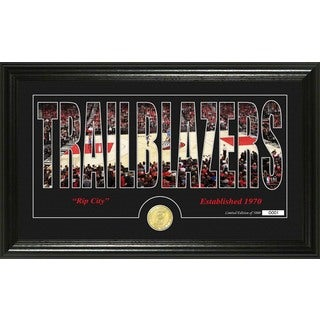 "Portland Trailblazers ""Silhouette"" Bronze Coin Photo Mint"