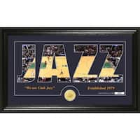 "Utah Jazz ""Silhouette"" Bronze Coin Photo Mint"