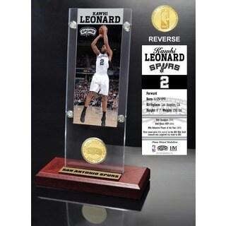 Kawhi Leonard Ticket & Minted Coin Desktop Acrylic
