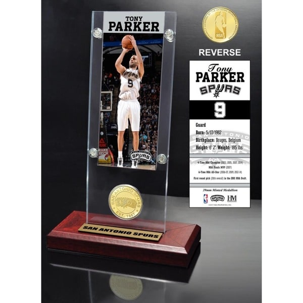 Tony Parker Ticket & Bronze Coin Desktop Acrylic