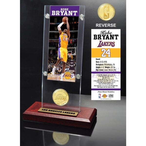 Kobe Bryant Ticket & Bronze Coin Desktop Acrylic