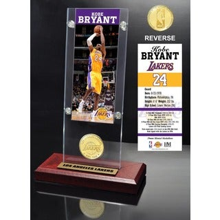 Kobe Bryant Ticket & Bronze Coin Desktop Acrylic