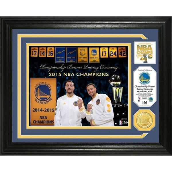 "Golden State Warriors 2015 NBA Champions ""Banner Raising"" Bronze Coin Photo Mint"