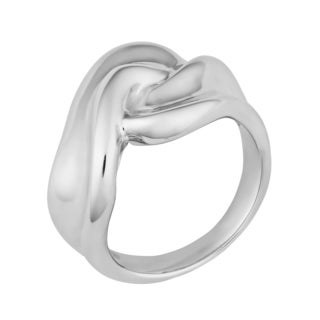 Argento Italia Sterling Silver High Polish Fancy Wide Ring (size 7)