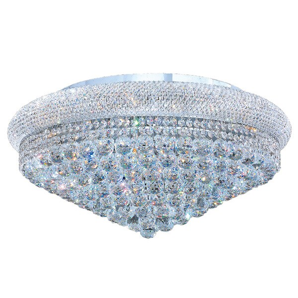 French Empire Collection Light Chrome Finish And Clear Crystal