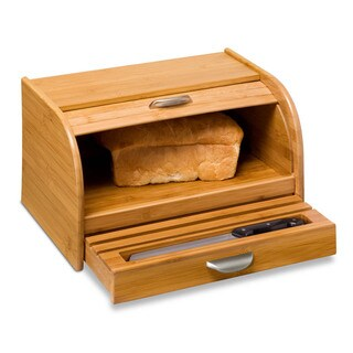 Honey-Can-Do Brown Bamboo Bread Box