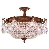 French Empire Basket Style Collection 4-light French Gold Finish 24-inch Wide Extra Large Ceiling Flush Mount Light