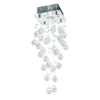 Crystal Rain Drop 1-light Crystal Ball Prism Rainfall Ceiling Flush Mount 8-inch Square x 24-inch High