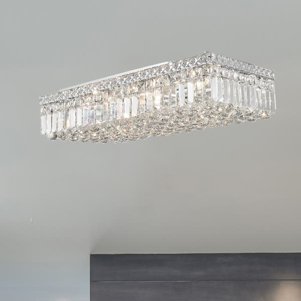 Rectangle Shape 6 Light Chrome Canopy