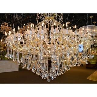 Maria Theresa Grand 49-light Gold Finish Victorian Grand Crystal 2-tier Extra Large Chandelier