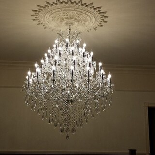 Maria Theresa 44 light Chrome Finish Victorian Grand Crystal Chandelier Four 4 Tier Extra Large