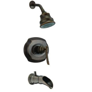 Bamboo WaterSense 1-Handle Tub and Shower Faucet in Heritage Bronze