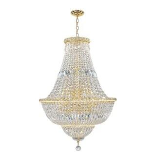 French Empire 15 light Gold Finish Crystal Regal Chandelier Medium