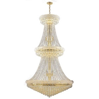 French Empire 38 light Gold Finish Crystal Regal Chandelier Large Two 2 Tier