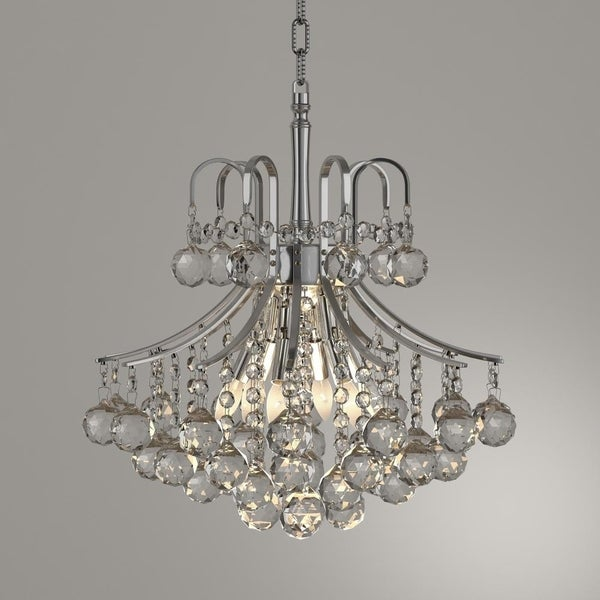 Shop French Empire 6 Light Chrome Finish Clear Crystal