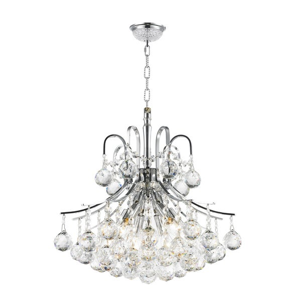 Empire Crystal Chandelier In Silver Chrome