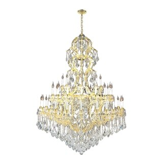 Maria Theresa Grand 48-light Gold Finish 4-tier Extra Large Crystal Victorian Chandelier