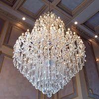 Maria Theresa Grand 60-light Gold Finish 3-tier Extra Large Crystal Victorian Chandelier