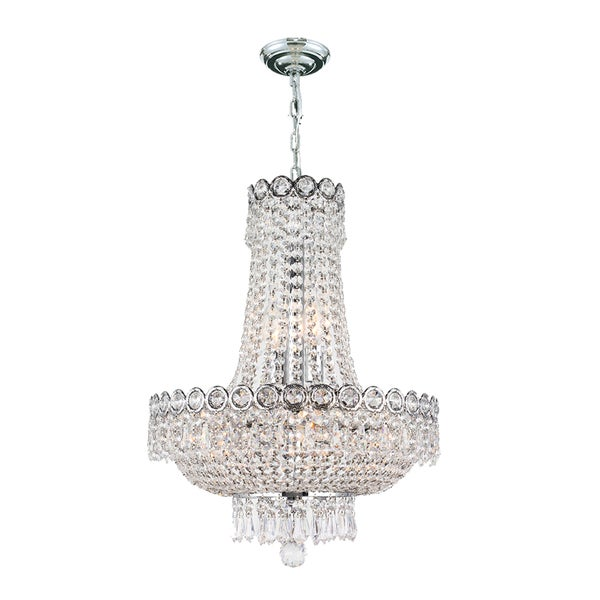 French Empire 8 Light Chrome Finish Clear Crystal Chandelier ...