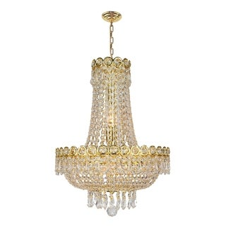 French Empire 8 light Gold Finish Crystal Regal Chandelier Mini