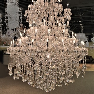 Maria Theresa 61 light Chrome Finish Crystal Victorian Chandelier Four 4 Tier Extra Large