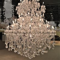 Maria Theresa Grand 61-light Chrome Finish 4-tier Extra Large Crystal Victorian Chandelier