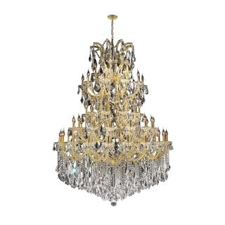 Maria Theresa Grand 61-light Gold Finish 4-tier Extra Large Crystal Victorian Chandelier