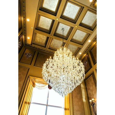 Maria Theresa Grand 84-light 5-tierFull Lead Crystal Victorian Chandelier 72 in x 96 in Tall Extra Large