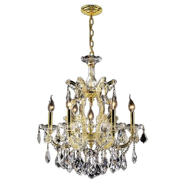 Maria Theresa Grand 7light Gold Finish Medium Crystal Victorian – Victorian Chandelier