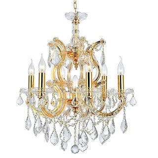 Maria Theresa 7 light Gold Finish Crystal Victorian Chandelier Medium