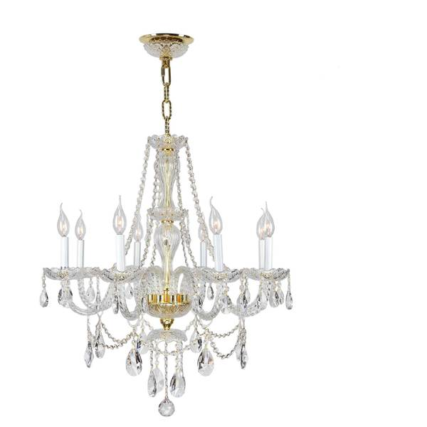 Love The Wall Finishes Chandelier And The Overall Tuscan: Shop Venetian Italian Style 8 Light Gold Finish And Clear
