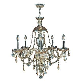 5 lights brilliance lighting and chandeliers ceiling lights for less venetian italian style 5 light chrome finish and golden teak crystal chandelier large 25 x aloadofball Choice Image