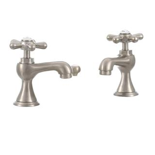 Series 6100 8-inch Widespread 2-Handle Low-Arc Bathroom Faucet in Brushed Nickel with Pop-up Drain