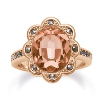 Colored Diamond Gold Overlay Rings