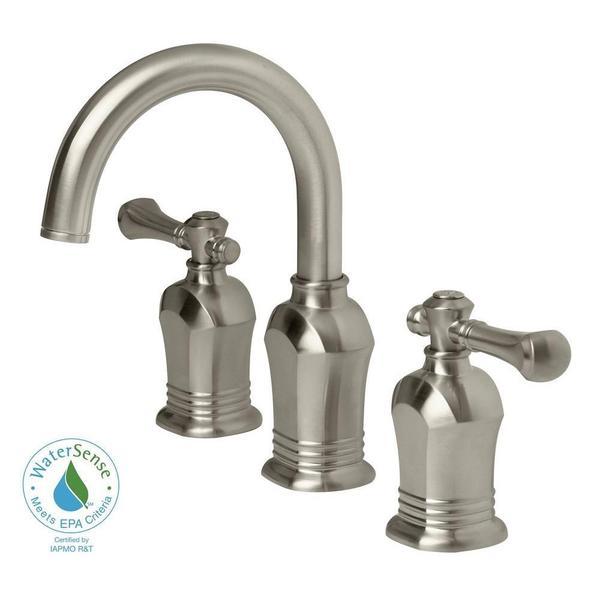 Shop verdanza series 8 inch widespread 2 handle high arc - 8 inch brushed nickel bathroom faucet ...
