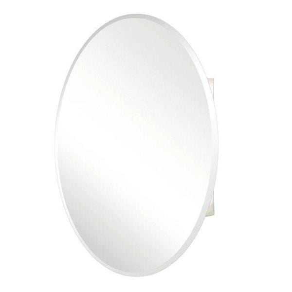 Pegasus 24-inch x 36-inch Recessed or Surface Mount Medicine Cabinet with Oval Beveled Mirror ...