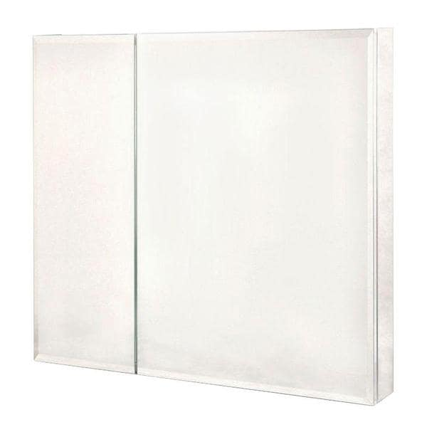Pegasus 30 inch x 30 inch recessed or surface mount for 16 in x 60 in beveled door mirror