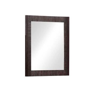 29 inch x 24 inch Framed Wall Mirror inight Mahogany