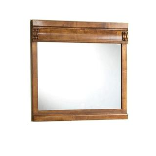 30 inch H x 32 inch Framed Wall Mirror in Oak