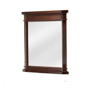 26 inch x 30.13 inch H x 2.19 inch Framed Wall Mirror in Cherry
