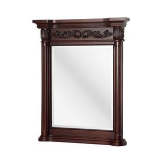 Estates 28 inch x 34 inch Wall Mirror in Rich Mahogany