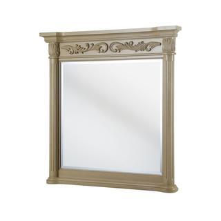 Estates 38 inch x 36 inch Wall Mirror in Antique White