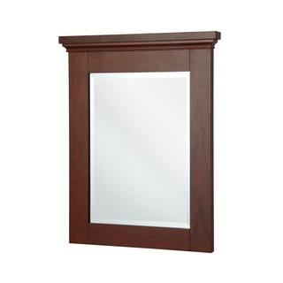 Manchester 29 inch x 23 inch Wall Mirror in Mahogany